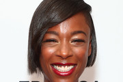 Samira Wiley Side Parted Straight Cut