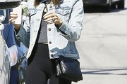 Jenna Dewan-Tatum Leather Shoulder Bag