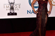 Halle Berry Strapless Dress