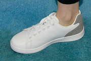Lily Collins Leather Sneakers